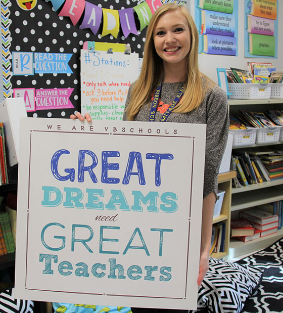 We Are Vbschools  Great Dreams Need Great Teachers Miss Michelle Hedish Fourthgrade Teacher At Hermitage Elementary Has  Built A Positive And Encouraging Relationship With My Son In Just A Few  Short Weeks
