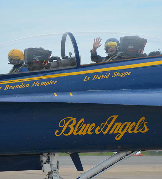 Ron Shaneyfelt  flew with the Blue Angels