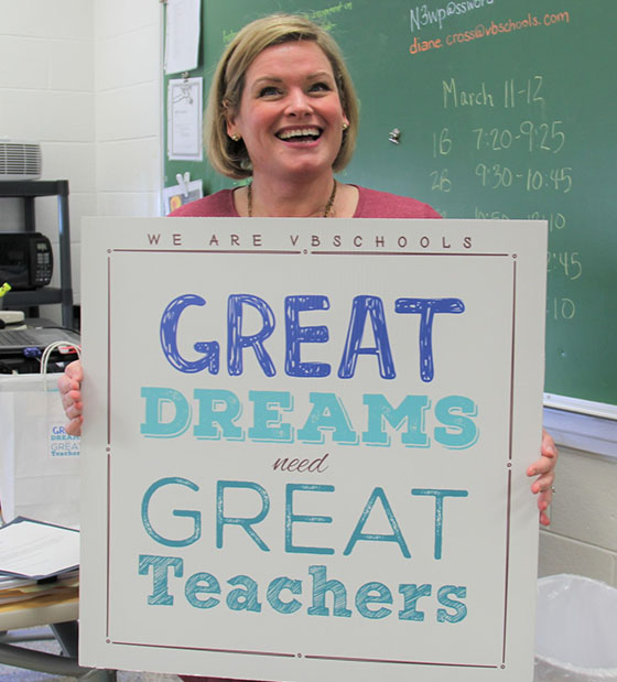 Robert Crabtree To Receive 2017 Diane >> We Are Vbschools Great Dreams Need Great Teachers