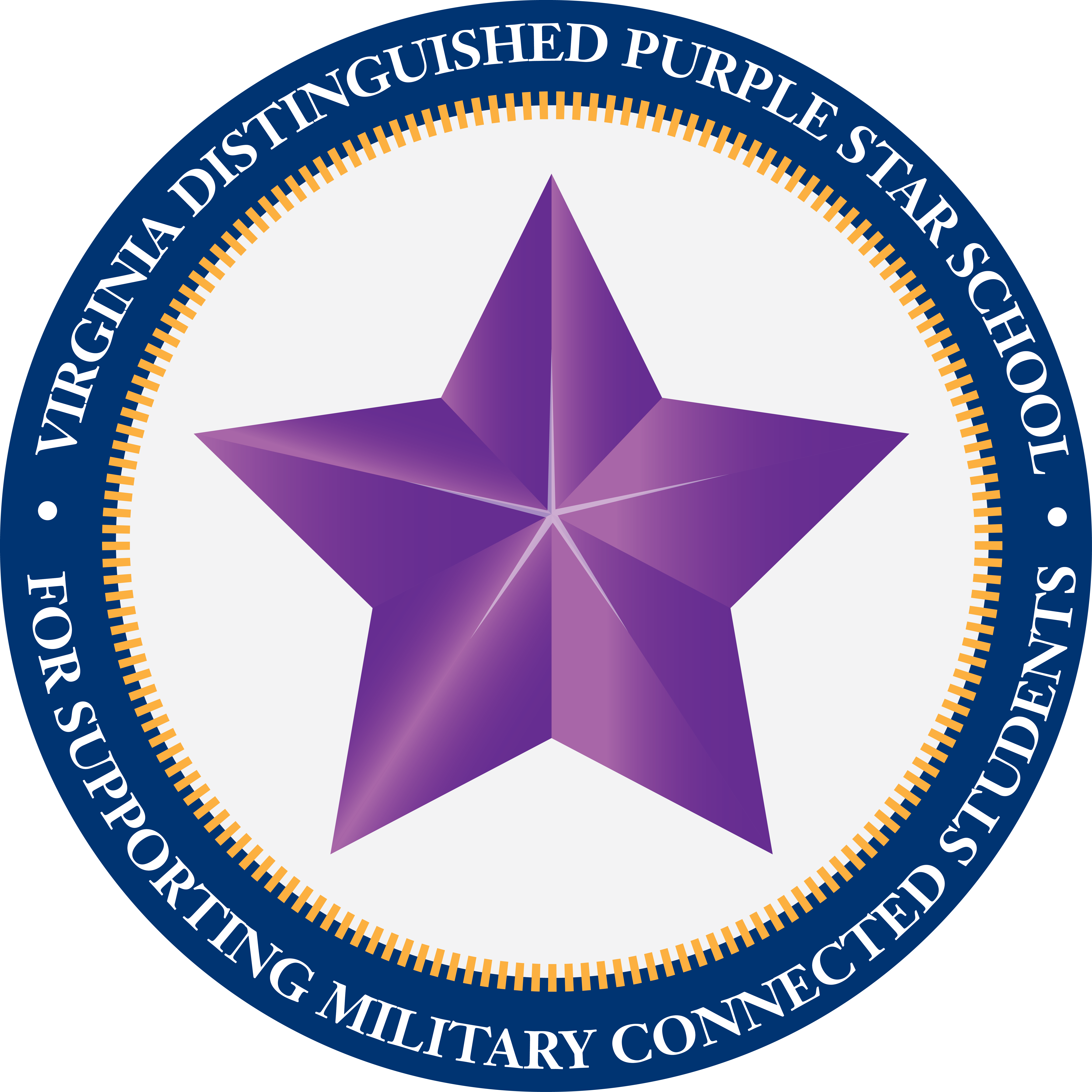 Virginia distinguished Purple Star School for supporting military connected students